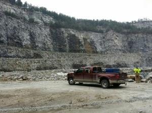 Truck in mine